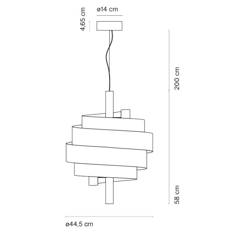 Marset Piola Pendant Light Line Drawing
