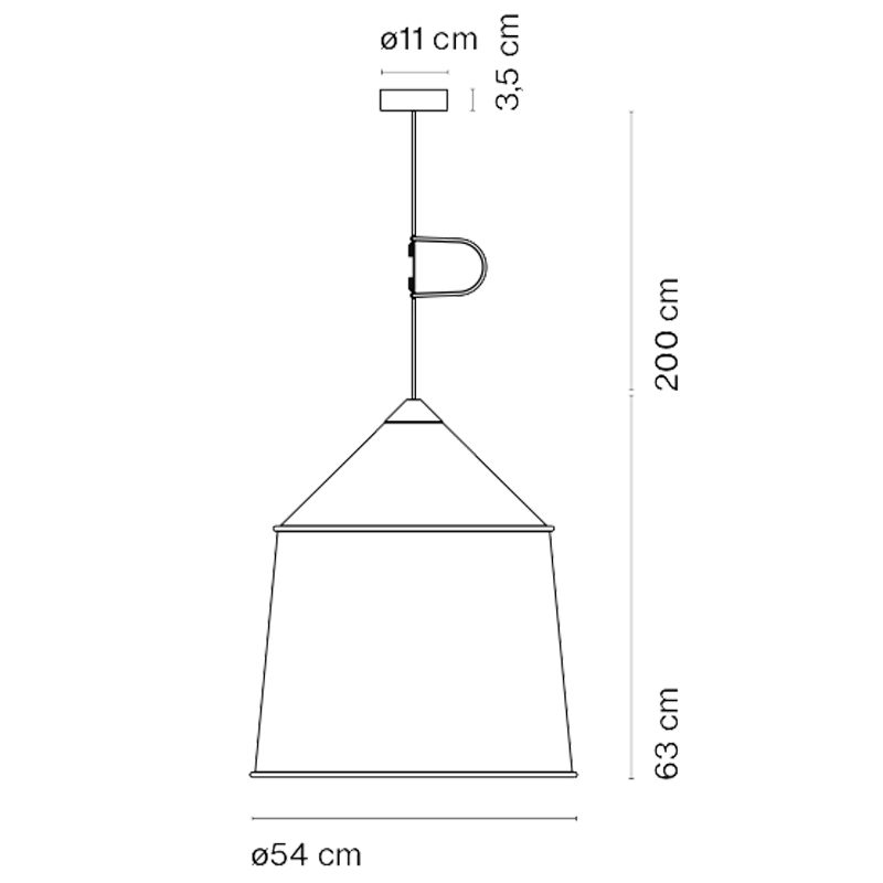 Marset Jaima 54 Pendant Light Line Drawing