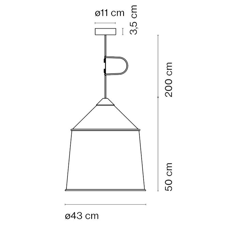 Marset Jaima 43 Pendant Light Line Drawing