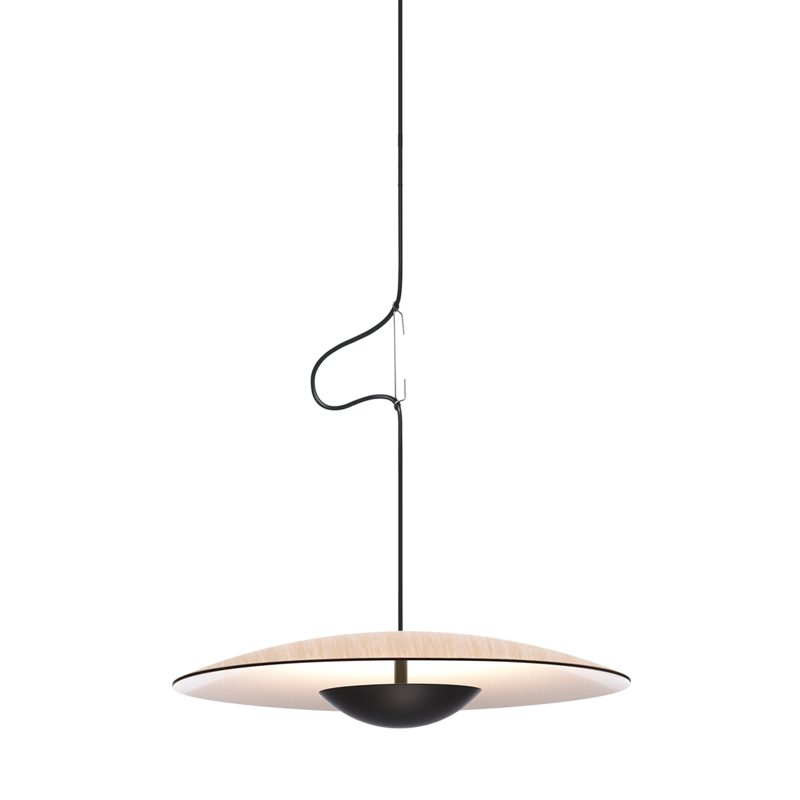 Marset Ginger 20 Pendant Light Oak White