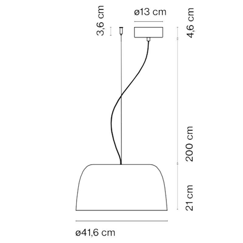Marset Djembé 42.21 Pendant Light Line Drawing