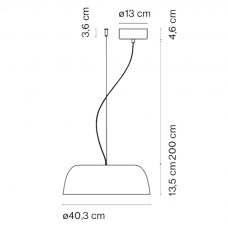 Marset Djembé 42.13 Pendant Light Line Drawing