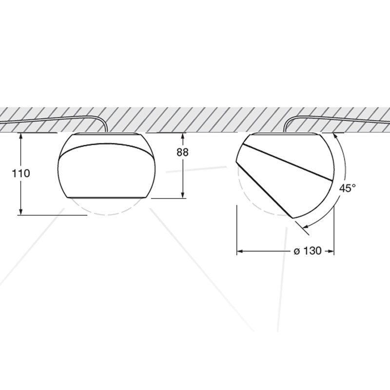 Sito Giro Ceiling Light Line Drawing