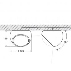 Sito Lato Ceiling Light Line Drawing