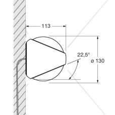Sito Verticale Wall Light Line Drawing