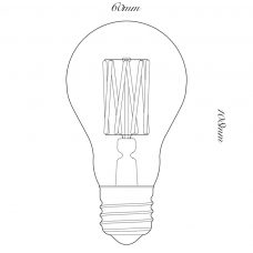 Tala 6w Led Globe Lamp Line Drawing