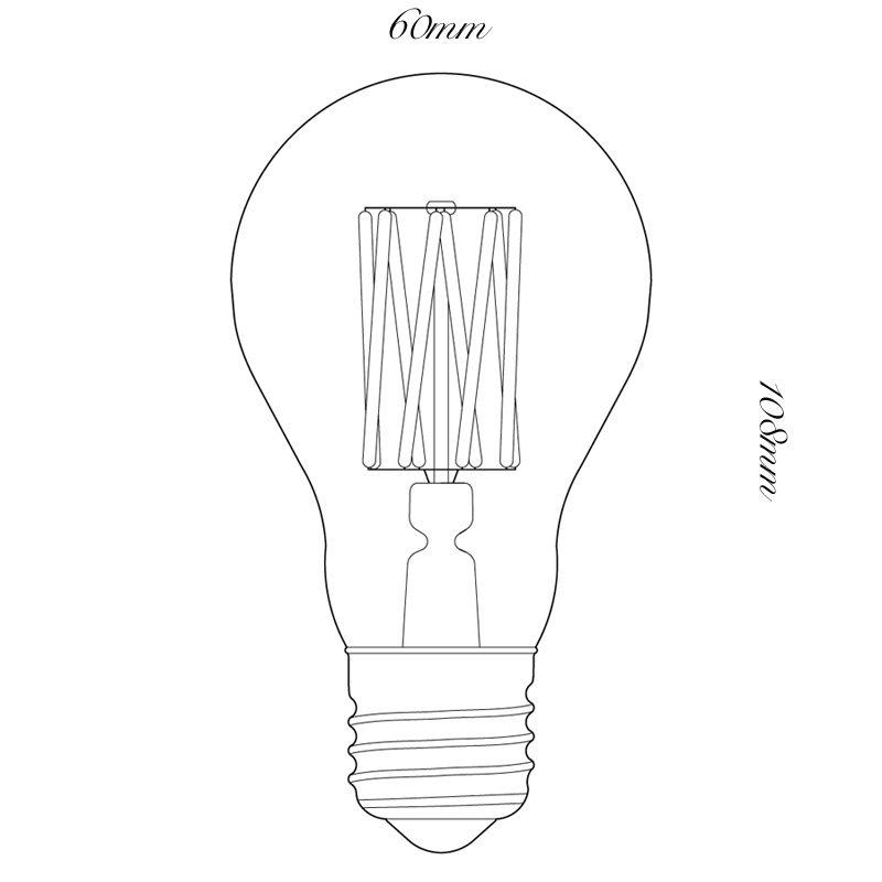 Tala 6w Led Globe Lamp Line Drawing
