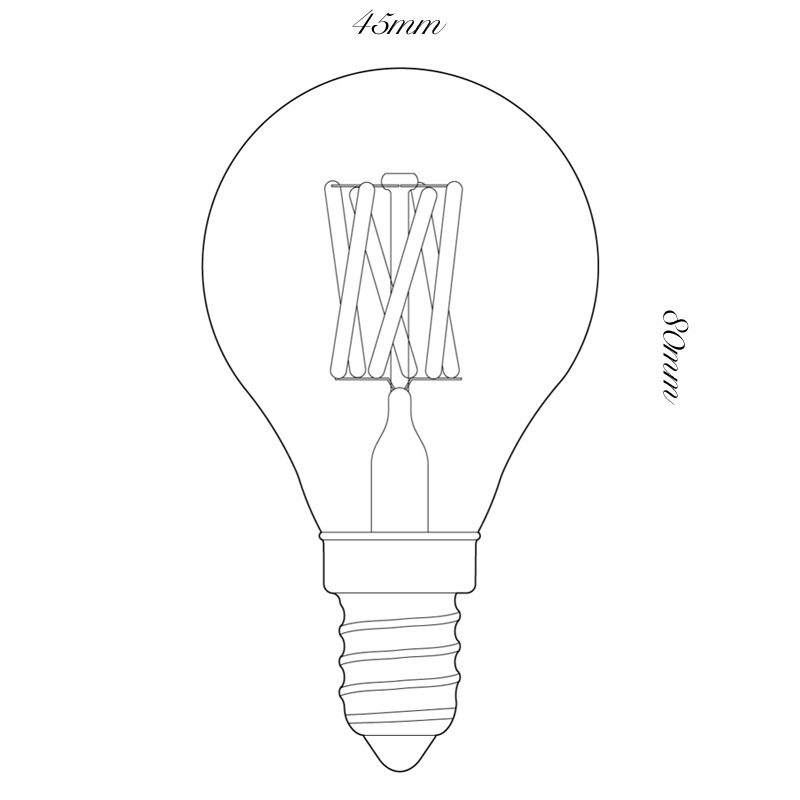 Tala 3w Led Pluto Lamp Line Drawing