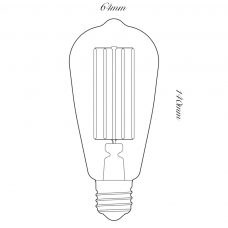 Tala 3w Led Squirrel Cage Lamp Line Drawing