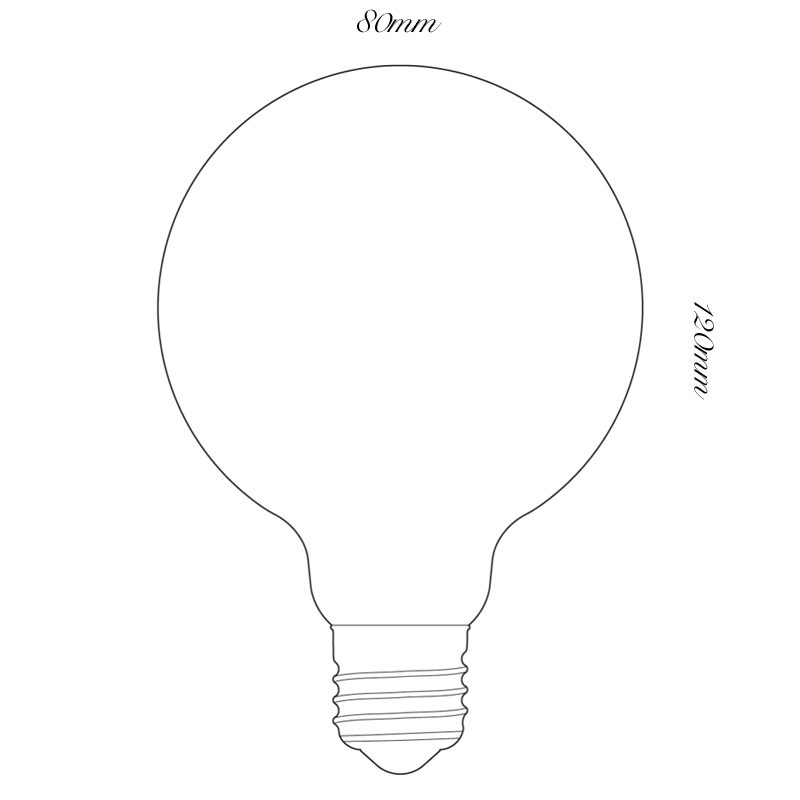 Tala 6w Led Porcelain Ii 80mm Lamp Line Drawing