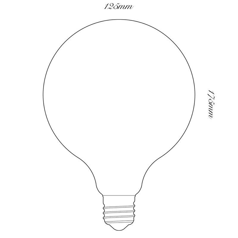 Tala 6w Led Porcelain Iii 80mm Lamp Line Drawing