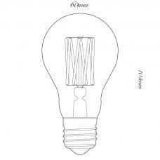 100 Light Uk 6w Gls Clear Led Lamp Line Drawing