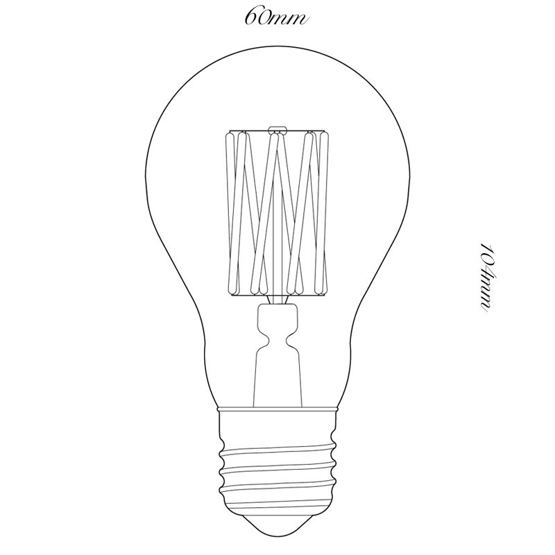 100 Light Uk 6w Gls Opal Led Lamp Line Drawing