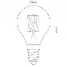 100 Light Uk 4w Golfball Clear Led Lamp Line Drawing
