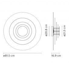 Marset Concentric M Wall Light Line Drawing