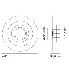 Marset Concentric S Wall Light Line Drawing