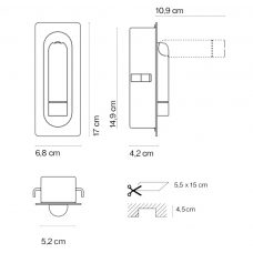 Marset Ledtube Wall Light Line Drawing