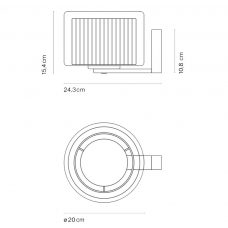Marset Mercer Wall Light Line Drawing