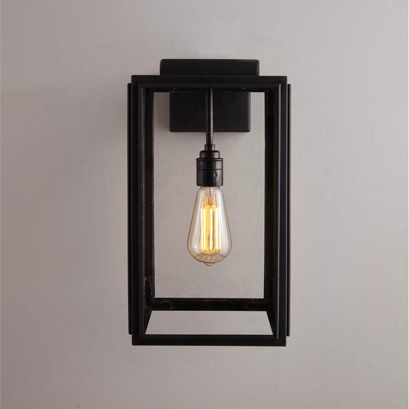 Davey Lighting Portico Small Wall Light Weathered Brass C