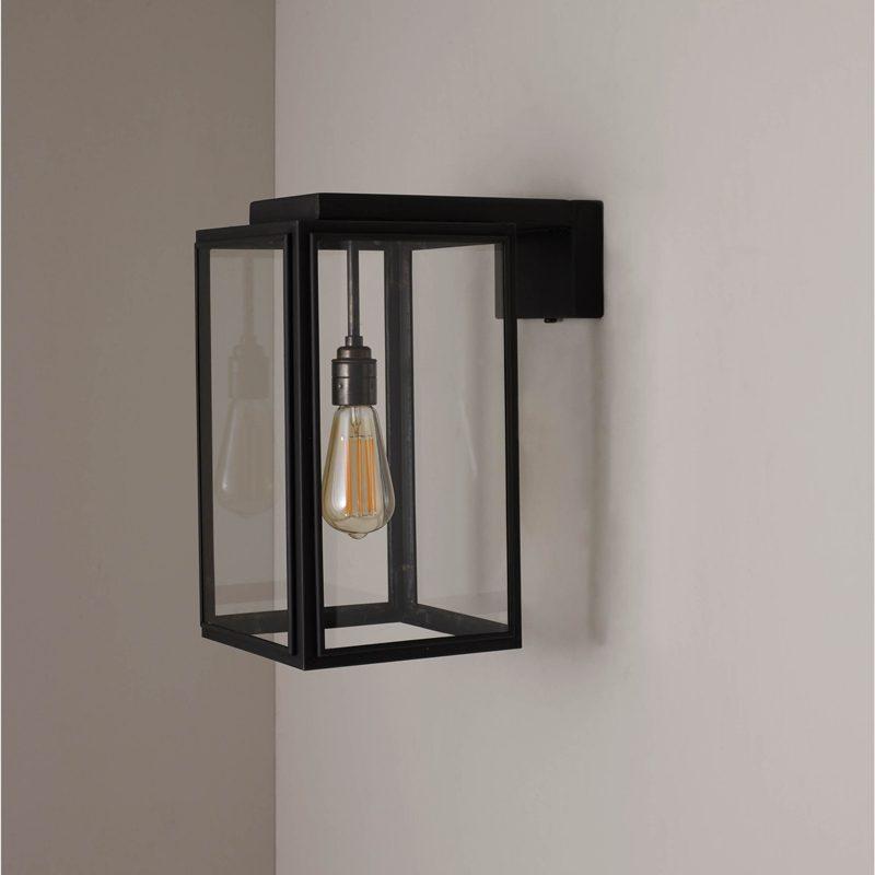 Davey Lighting Portico Small Wall Light Weathered Brass E