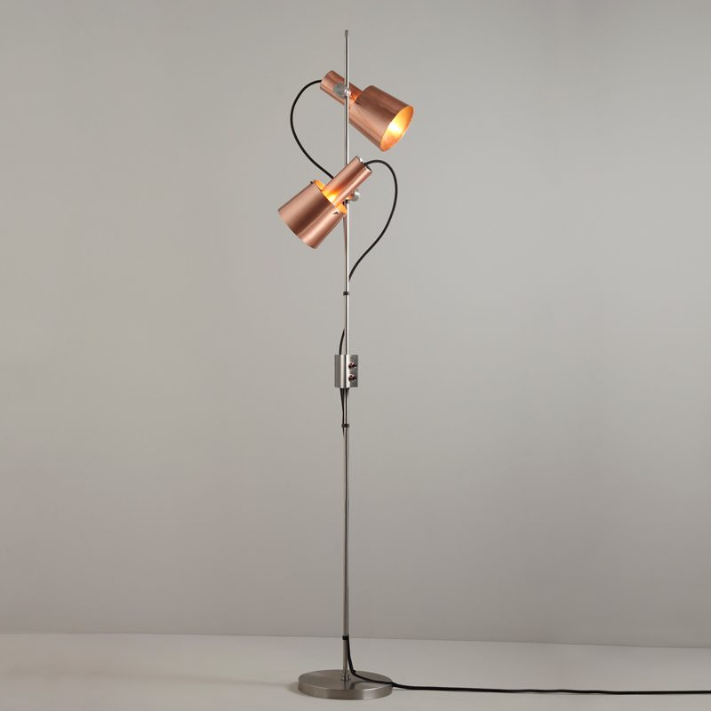 Original Btc Chester Floor Lamp Satin Copper