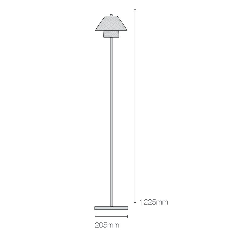 Original Btc Oxford Floor Lamp Line Drawing