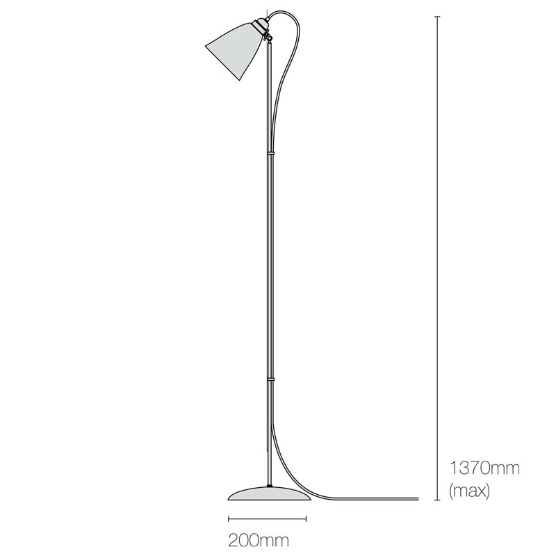 Original Btc Primo Floor Lamp Line Drawing