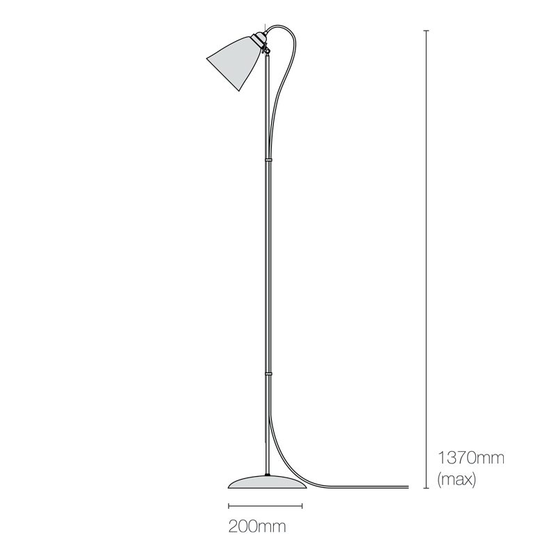 Original Btc Linear Floor Lamp Line Drawing