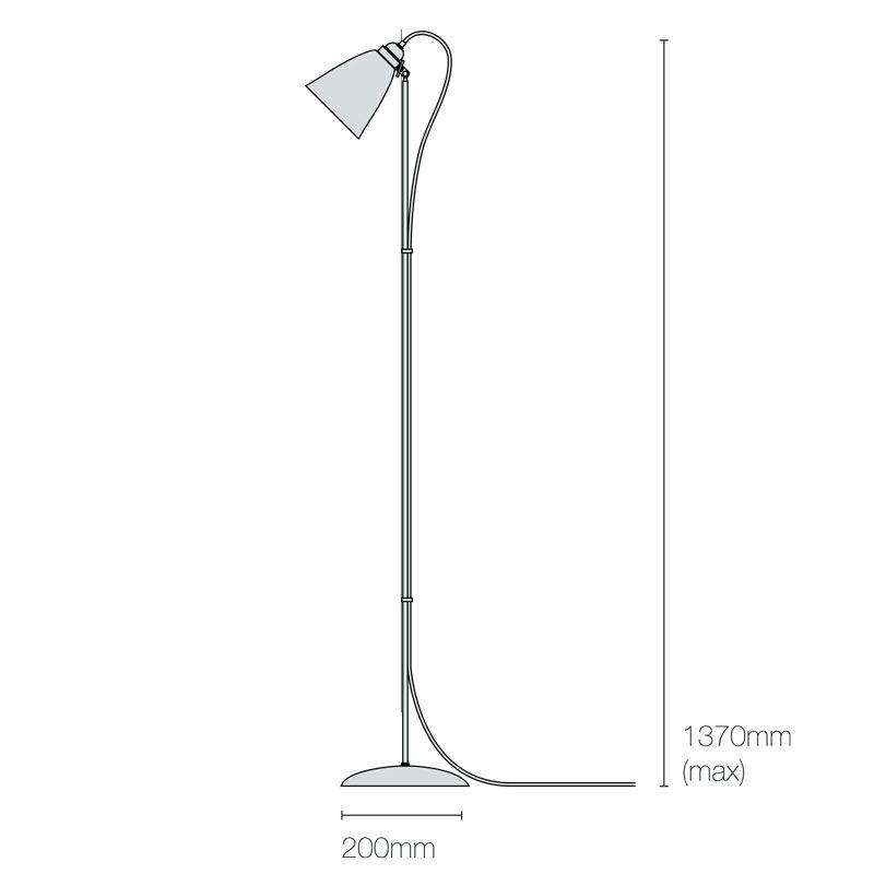 Original Btc Hector Metal Floor Lamp Line Drawing