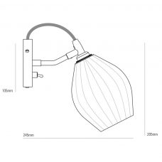 Original Btc Fin Wall Light Line Drawing
