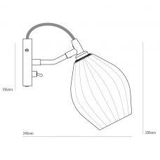 Original Btc Fin Wall Light Line Drawing