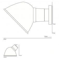 Original Btc Ginger Wall Light Line Drawing