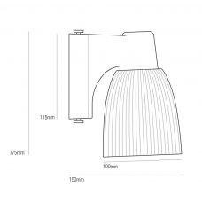 Original Btc Minster 1 Wall Light Line Drawing