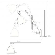 Original Btc Task Wall Light Line Drawing