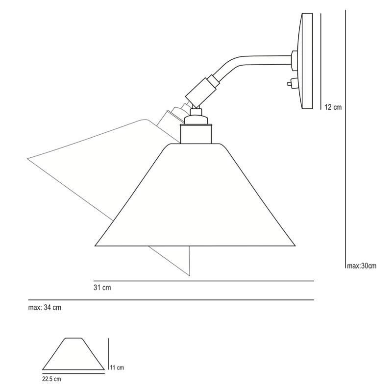Task Ceramic Short Wall Light - Buy online now at All Square Lighting
