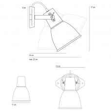 Original Btc Stirrup 1 Wall Light Line Drawing
