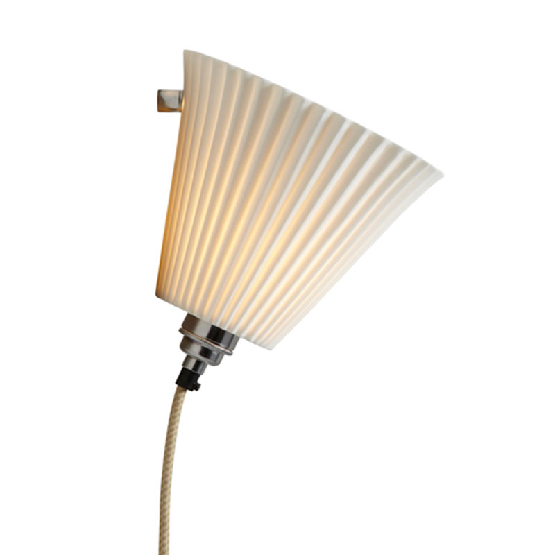 Portable Wall Lights: Portable Pleated Large Cabled Wall Light