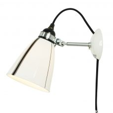 Original Btc Linear Cabled Wall Light Black And White