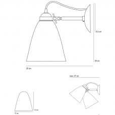 Original Btc Hector Medium Dome Switchedwall Light Line Drawing