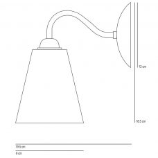 Original Btc Swan Wall Light Line Drawing