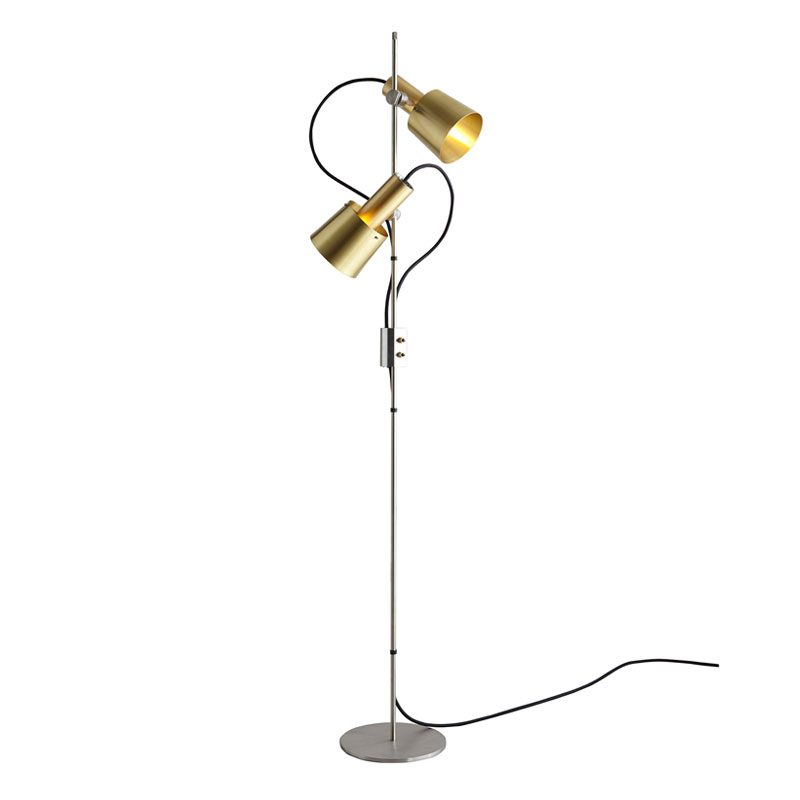 Original Btc Chester Floor Lamp Satin Brass