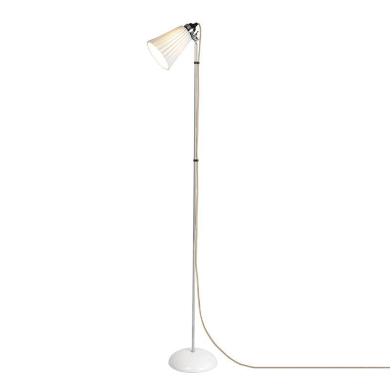 Original Btc Hector Medium Pleat Floor Lamp Natural Natural White