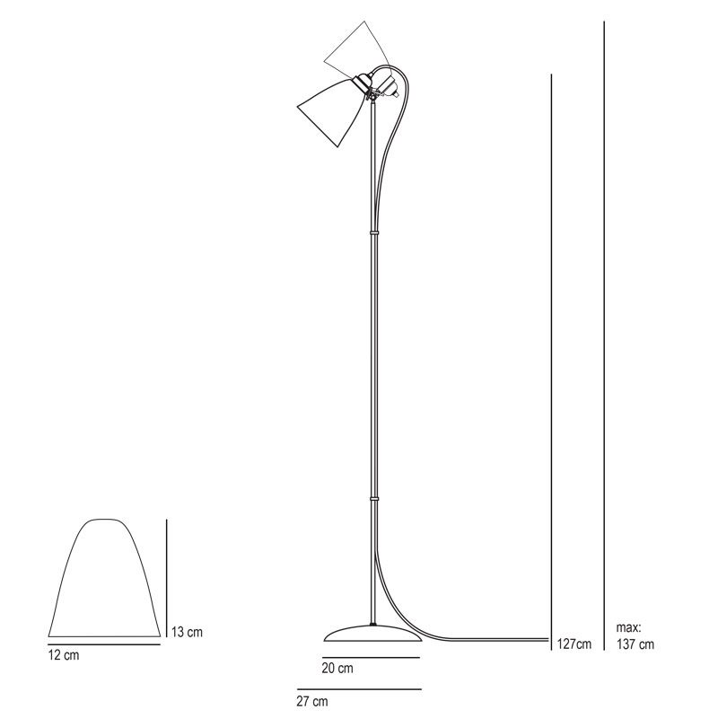 Original Btc Linear Floor Lamp Line Drawing