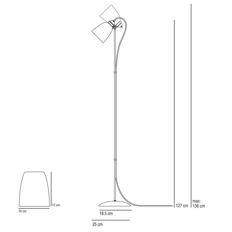 Original Btc Primo Floor Lamp Line Drawing