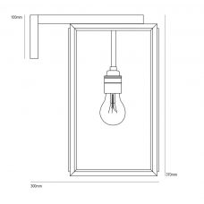 Davey Lighting Portico Small Wall Light Line Drawing1