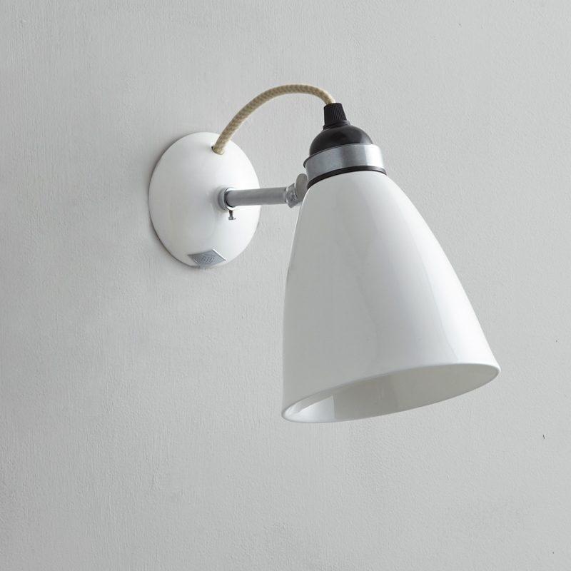 Original Btc Hector Medium Dome Wall Light White Off