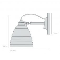Original Btc Hector Bibendum Switched Wall Light Line Drawing On