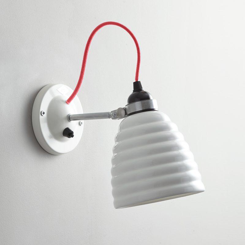 Original Btc Hector Bibendum Switched Wall Light Red Off