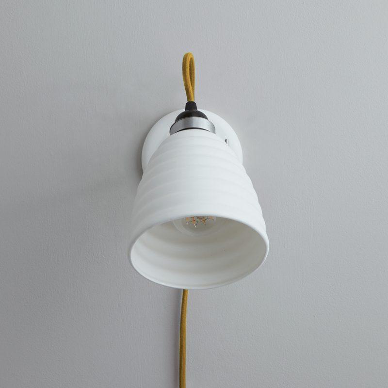 Original Btc Hector Bibendum Plug Switch & Cable Wall Light Yellow B Off