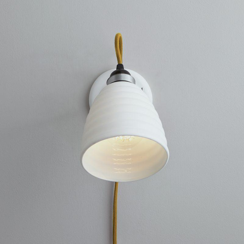 Original Btc Hector Bibendum Plug Switch & Cable Wall Light Yellow B On